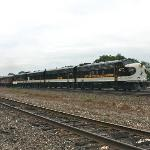  The Norfolk Southern directors train passes the Station Inn