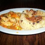 chicken stew with rice and beans