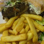 Huge minted lamb burger - Fantastic