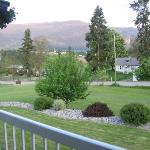 Looking out from the front porch of the Noble House B & B