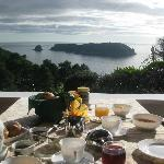 Breakfast - what a view..what a breakfast!