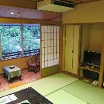 Room with tatami floor