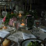 The settings for dining -- chose to use Belvedere's linens and were happy with our decision!