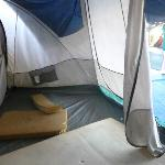 This was my tent complete with foam mat and a door that wouldn´t zip
