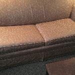 Couch in living room area