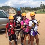 getting ready to zipline