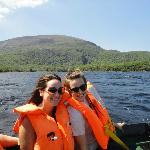 boat ride back from the Gap of Dunloe