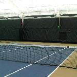 Awesome tennis courts, and lots of tennis balls to use