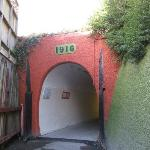 Entrance to elevator tunnel at bottom