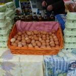  The egg seller at the Carrick-on-Shannon Farmer&#39;s Market