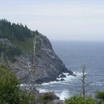 hiking on the cliffs from Lobster Cove to trail 4