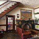 Lobby area at Shaffer Hotel, Mountainair, New Mexico, USA