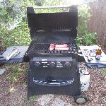 Gas barbeque for guests to use.