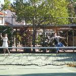 A friendly game of tennis