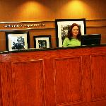 Front desk at the Hampton