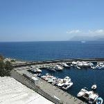  View of Lipari harbor from our balcony