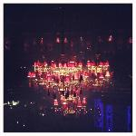 The chandeliers at Buddha bar Beirut