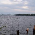  View of bridge from beach area