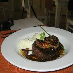 Beef filet with foie gras