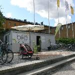 Rent a bike or relax for a while