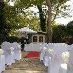 Outdoor Ceremony in Courtyard
