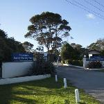 Koonwarra Holiday Park entrance