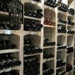  Partial view of the wine cellar.