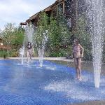 Our two kids LOVED, LOVED the Pool and Fountains