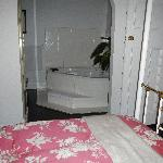 Spa bath off bedroom