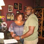 Hubby & I... I was already tipsy