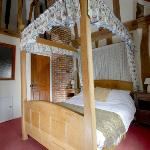 Our suite complete with high vaulted ceiling, minstrels gallery and other charming features
