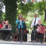 The Irish band playing traditional Irish music