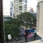  View of the busy street from our hotel window