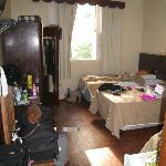 View of our (messy) triple room. Should have taken a tidy one for TripAdvisor!