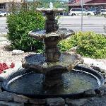  Front entrance area fountain