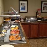 A shot of the Breakfast Buffet with lovely fruit, etc. etc. etc.