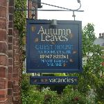 the sign hanging outside