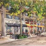 Hallmark Inn Artist Rendition F Street renovation underway
