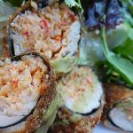 Nori Wrapped Crabmeat Stuffed Ahi