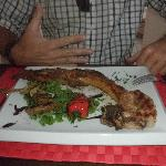 The delicious pork chop grilled to perfection