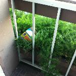  Trash on balcony was never cleaned