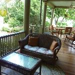 Side porch, great for eating breakfast