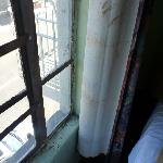 window and stained curtains