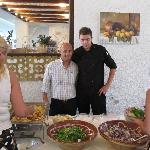 Vasilis (waiter) and Pantelis (chef)
