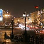 Khreshchatyk Street:begins with a major intersection east of Independence Square