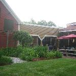 Out door and screened seating areas.