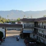 Pasadena Ramada toward San Gabriel mountains