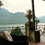 Cocktail Terrace at edge of Lake Como