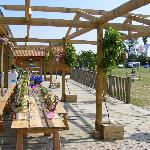 """A """"festival"""" style wedding at York maze. Camping over adds to the fun!"""