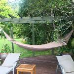  Relaxing area hammock and chair